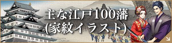 主な江戸100藩(家紋イラスト)