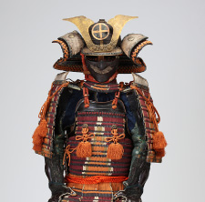 Armor with a two-piece set of cuirass decorated with multi-colored lacings(Owned by Shimazu Shigehide, the eighth lord of the Satsuma clan)